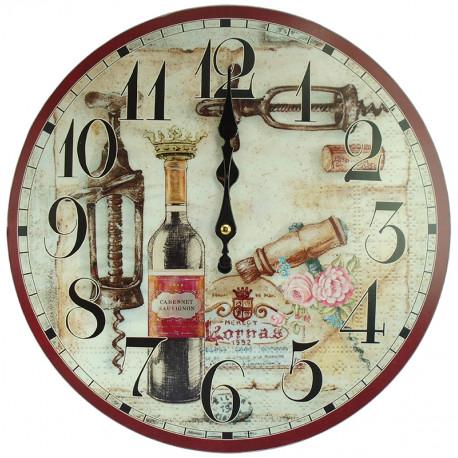 Nástenné hodiny Cabernet Sauvignon
