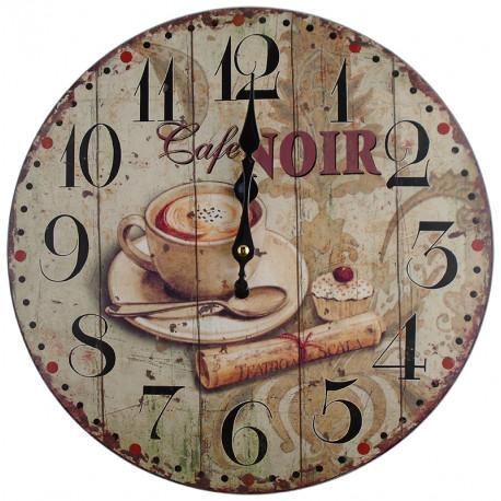 Nástenné hodiny Cafe Noir