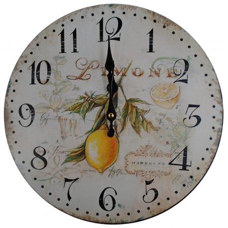 Nástenné hodiny citrón