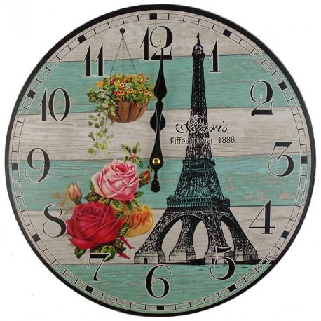 Nástenné hodiny Eiffelova veža