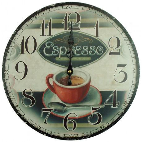 Nástenné hodiny espresso