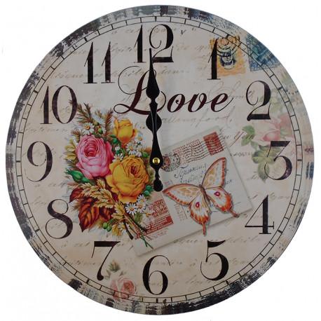 Nástenné hodiny Love