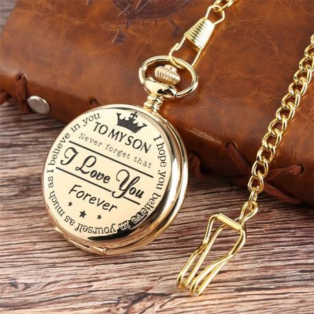 Vreckové hodinky I love you forever